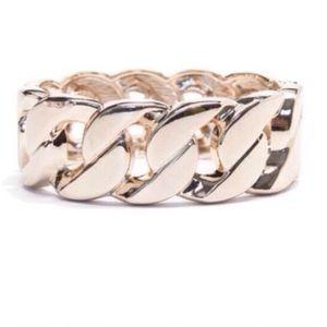 Gold Chain Bangle Cuff